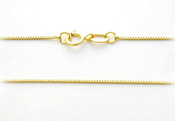 14k solid gold 'BOX' chain - Yellow gold - Approx. width: 0.6mm - Venezia chain