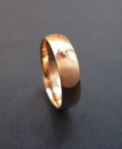 18k Rose Gold Court Wedding Band - For Him Or Her, Modern Gold Band
