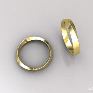 3mm Mobius Wedding Ring, Infinity Wedding Ring
