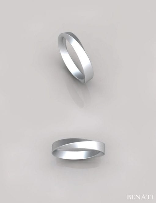3mm Mobius Wedding Ring, Infinity Wedding Ring