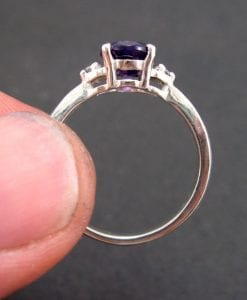 Amethyst Engagement Ring, Oval Engagement Ring