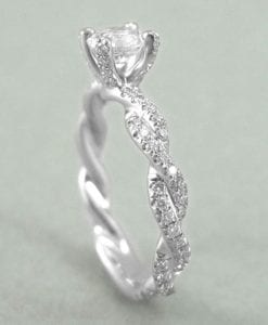 Diamond Engagement Infinity Ring - Infinity Diamond Engagement Ring - Infinity Knot Engagement Ring