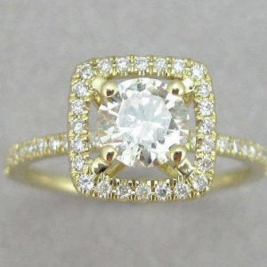 Diamond Engagement Ring, Halo Diamond Engagement Ring
