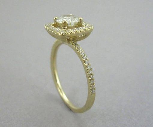 Diamond Engagement Ring, Halo Diamond Engagement Ring