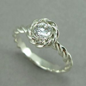 Diamond Engagement Ring, Rope Engagement ring