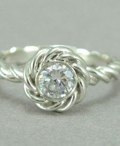 Diamond Engagement Ring, Rope Engagement ring