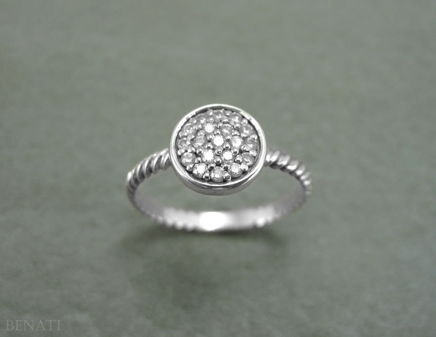 2 CT Round Promise Twisted Knot Rope Solitaire Ring Band Solid 14k White gold