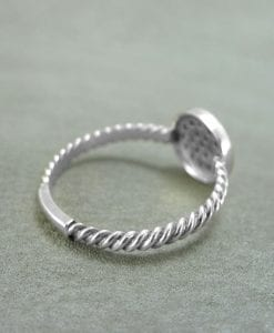 Diamond Engagement Ring With Gold Rope, Twisted Rope Engagement Ring