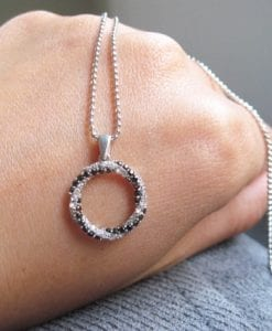 Diamond infinity knot pendant, Infinity knot with diamonds