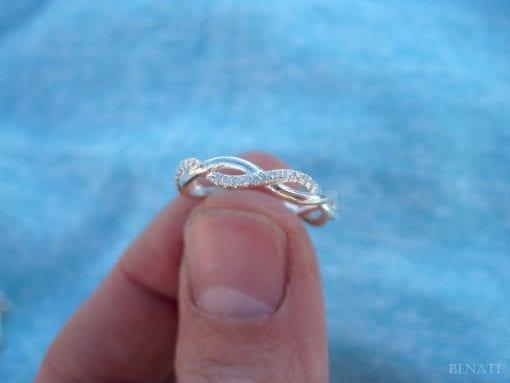 Diamond Infinity Knot Ring, Infinity Ring Diamond Wedding Ring