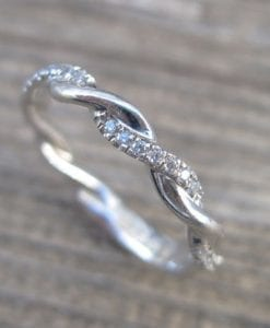 Diamond Infinity Knot Ring, Infinity Ring Diamond Wedding Ring