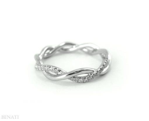 Diamond Infinity Knot Wedding Ring, Infinity Diamond Wedding Ring
