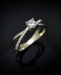 Diamond Infinity Love Engagement  Ring, Diamond Engagement Ring