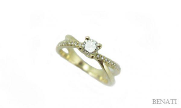 Diamond Infinity Love Engagement  Ring, Diamond Engagement Ring