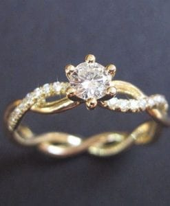 Diamond Infinity Love Engagement Ring, Infinity Engagement Ring