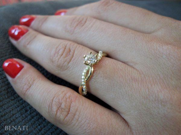 Diamond Infinity Love Engagement Ring, Infinity Engagement Ring