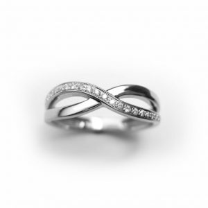 Diamond Infinity Ring, Infinity Ring With Diamonds