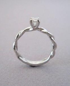 Diamond Knot Engagement Ring, Diamond Infinity Ring