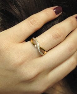 Diamond Knot Ring, Infinity Knot Ring