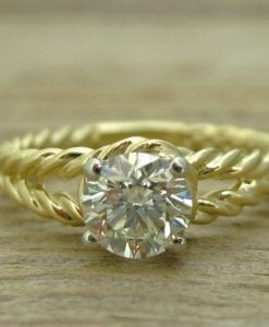 Diamond rope engagement ring, Diamond engagement ring