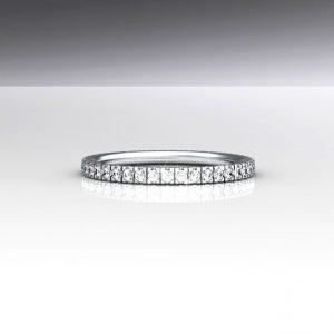 Diamond Stackable Eternity Gold Ring, Diamonds all Around