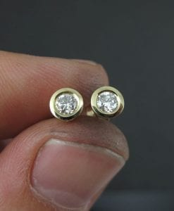 Diamond Stud Earrings, Simple Diamonds Earrings