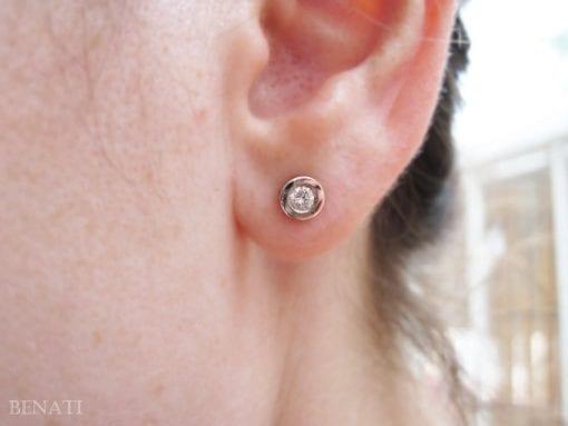 Diamond Stud Earrings, Simple Diamonds Earrings
