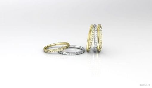 Diamond wedding eternity band, Wedding diamond eternity band