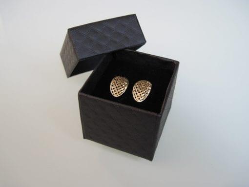 Elegant 14k Gold Earrings - Modern New Designer Stud Earrings - Fancy Studs - Chic Studs - Holiday Sale - Bride Earrings -  Wedding earrings