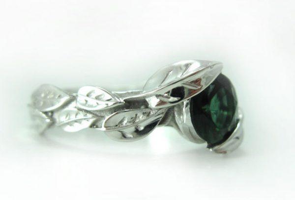 Engagement Leaf Ring, Leaf Engagement Ring