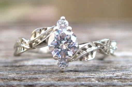 Forever Brilliant Moissanite Engagement Ring, Moissanite Engagement Ring