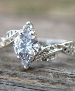 Forever Brilliant Moissanite Engagement Ring, Moissanite Engagement Ring