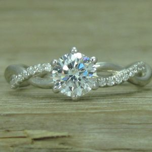 Forever Brilliant Moissanite Engagement Ring, Moissanite Infinity Ring