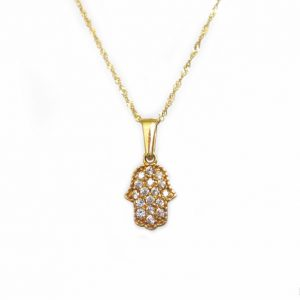 Gold hamsa pendant in 14k solid gold - all the protection & energy you need - gold hamsa - new designer gold hamsa