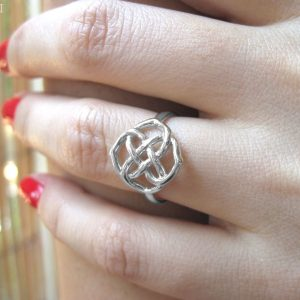 Gold Infinity Knot Ring, Infinity Ring