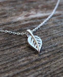 Gold Leaf Necklace, Leaf Necklace