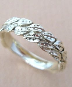 Gold Leaf Wedding ring, Gold Wedding Leaf Ring