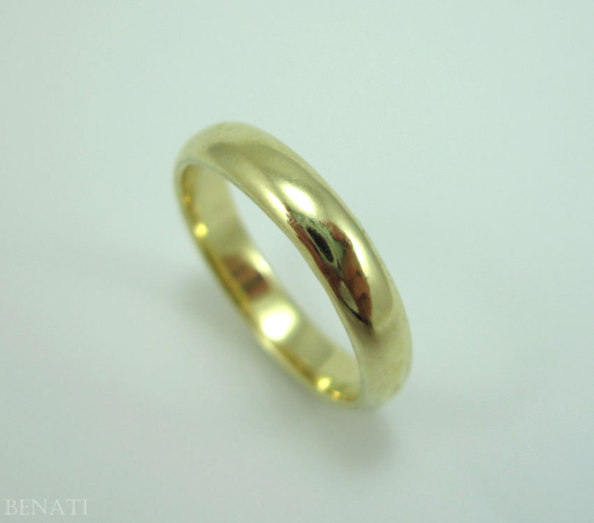Gold Wedding Band, Simple Wedding Ring