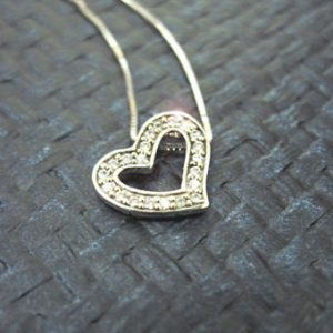 Heart dainty Necklace, Designer heart pendant