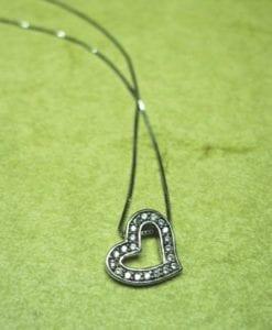 Heart dainty Necklace, Designer heart pendant