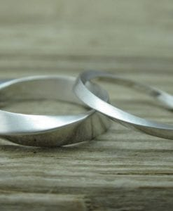 His And Hers Wedding Rings Set, Mobius Rings set