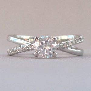 Infinity Engagement  Ring, Diamond Infinity Engagement Ring