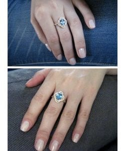Infinity Engagement Ring, Infinity Knot Engagement Ring
