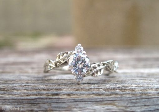Leaf Engagement Ring, Leaves Engagement Ring