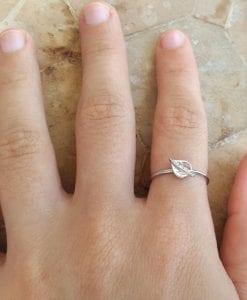 Leaf ring, Gold leaf stacking ring