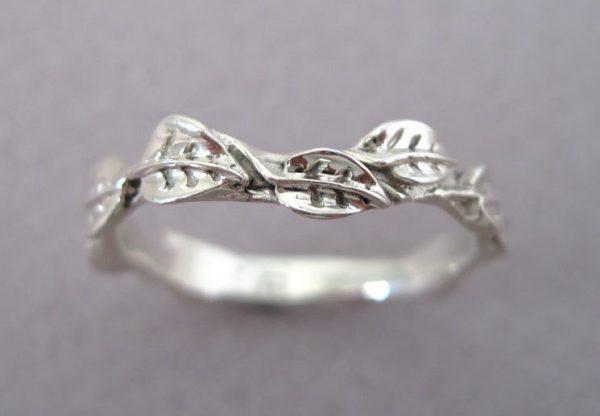 Leaf Wedding Ring, Leaf Wedding Band
