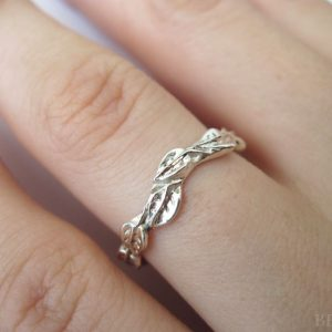 Leaf Wedding Ring, Leaf Wedding Band