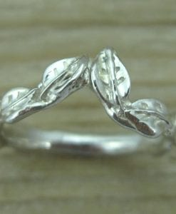 Leaves wedding band, Leaf wedding band