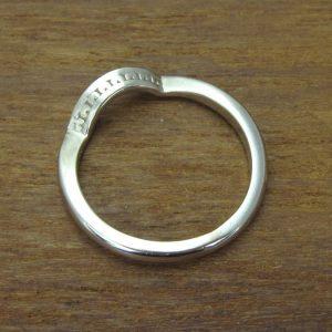 Matching Wave Wedding Ring With Diamonds, Antique Diamond Wave Wedding Band