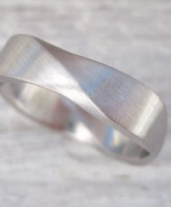 Matte Mobius wedding ring, 6mm wide mobius Matte  wedding band